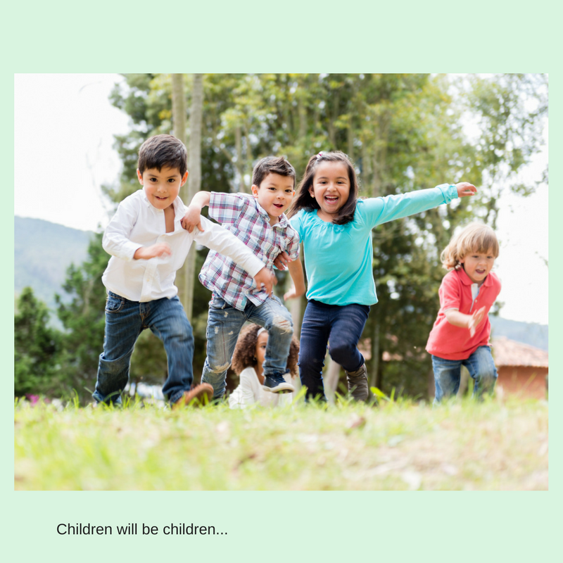 Living Creatively with Fibro | Children running around getting lots of natural exercise