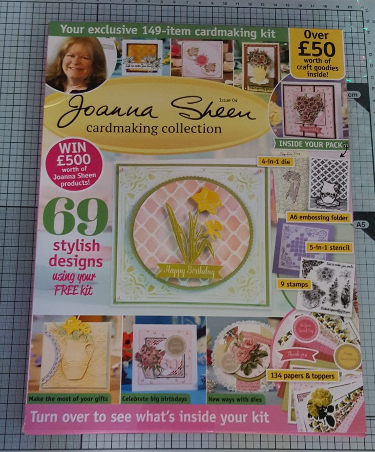 Living Creatively with Fibro   The box from the Joanna Sheen Cardmaking Collection 4th Edition