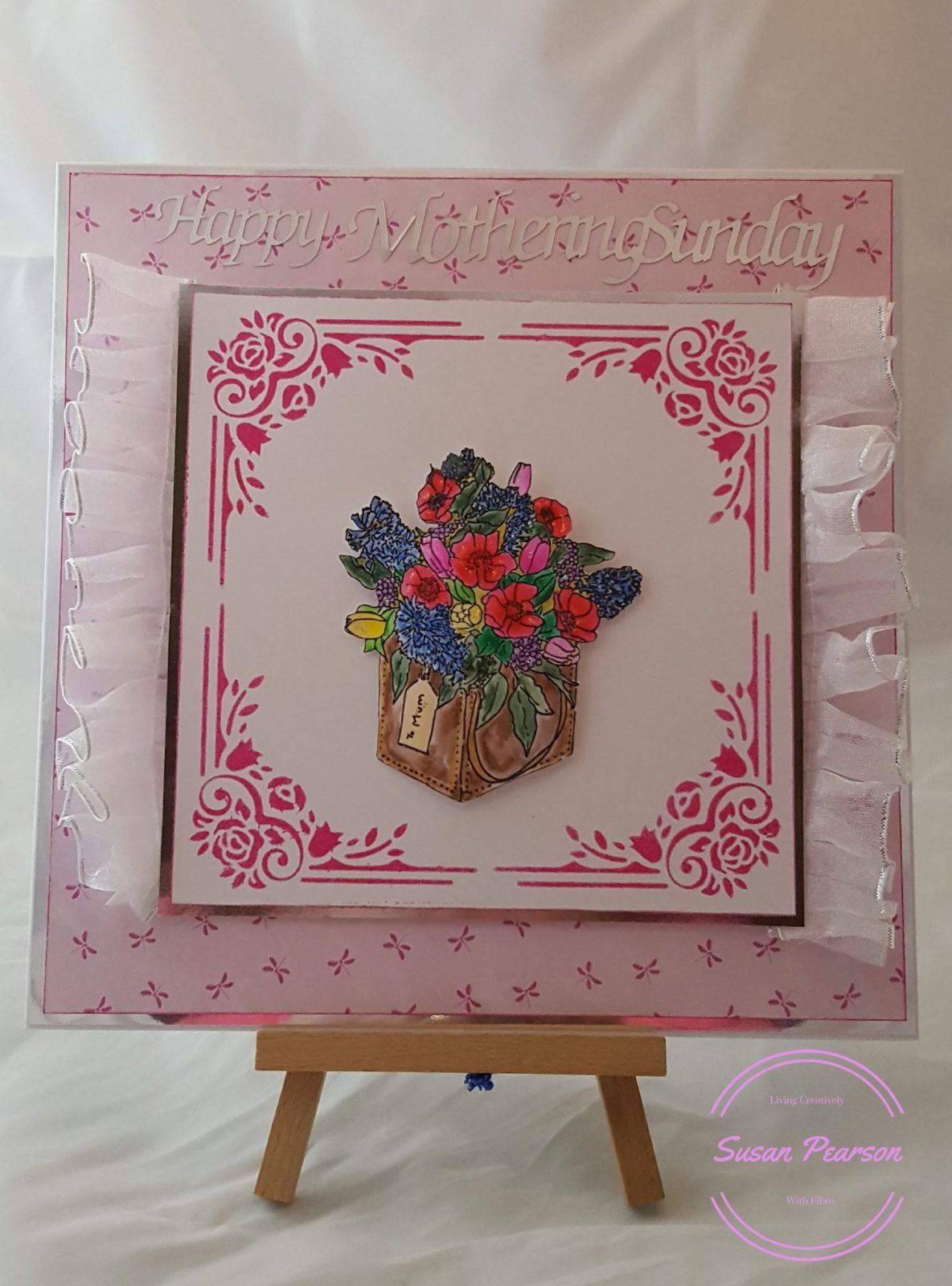 Living Creatively with Fibro   Completed Joanna Sheen Card for Mothering Sunday 2018