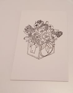 Living Creatively with Fibro   Joanna Sheen Floral Stamp with flowers in a basket