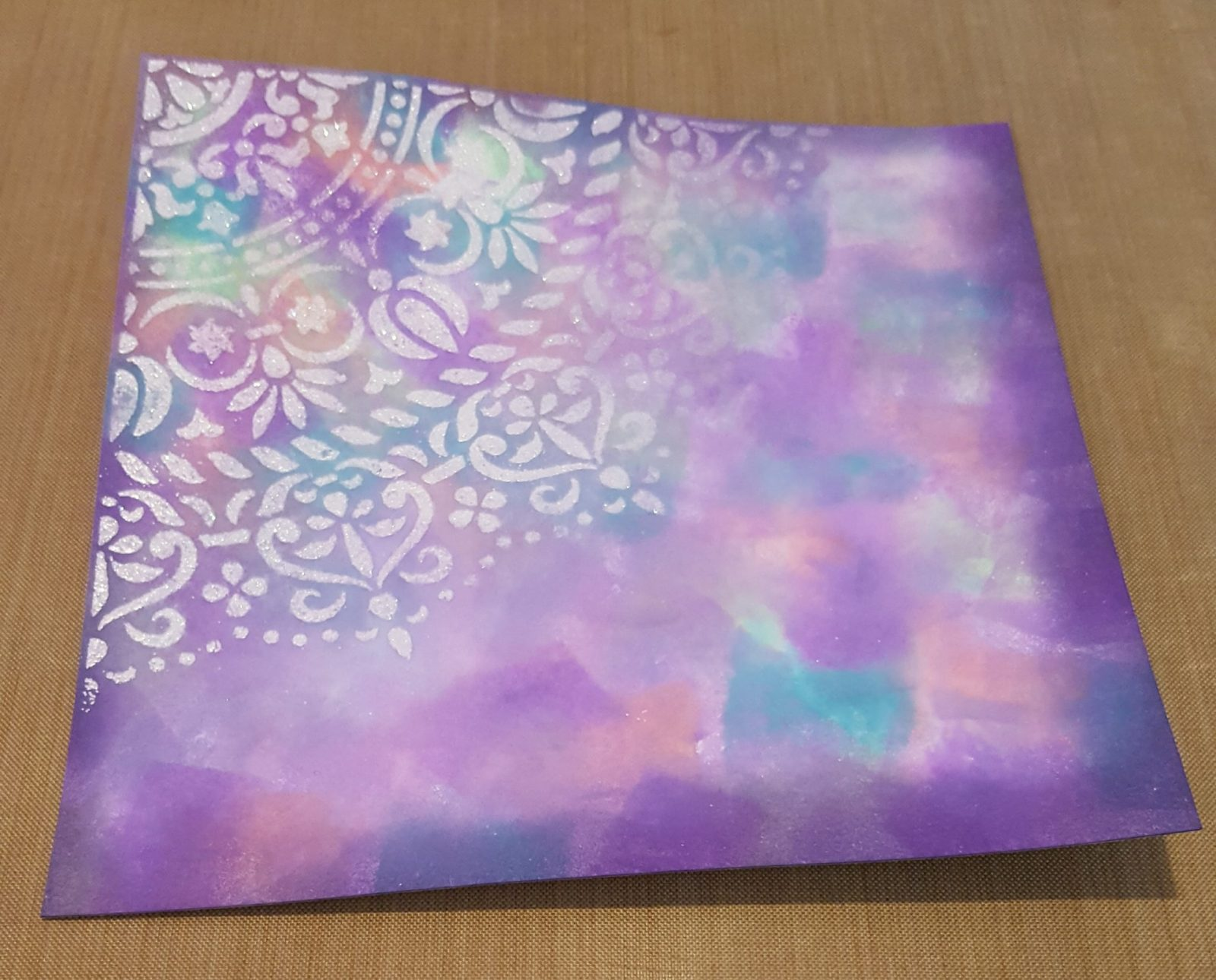 Living Creatively with Fibro | Mandala Stencil design with tidy darkened edges