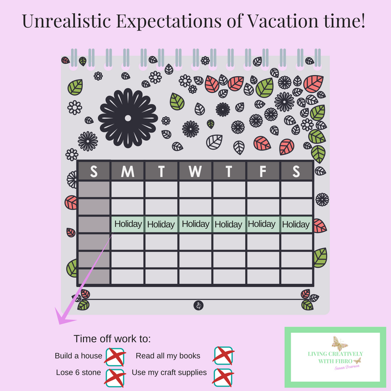 Living Creatively with Fibro | An Organising Breakdown caused by the Unrealistic Expectation of Everything you can fit into one week off