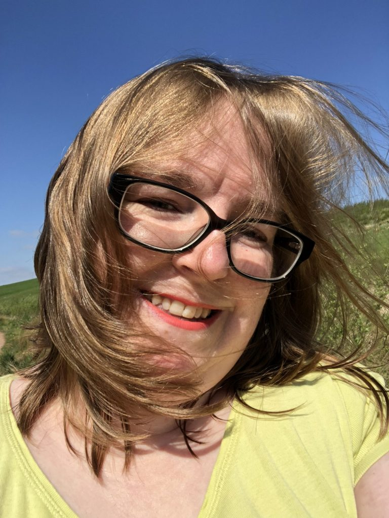 Living Creatively with Fibro | An selfie of me with my hair blowing in the wind