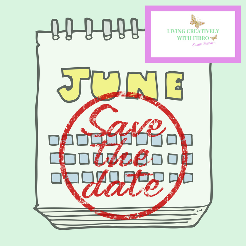 "Living Creatively with Fibro | Menstruation Cycles An Image of a calendar with the month showing and ""Save the Date"" written in red covering the whole month"