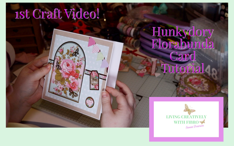 Living Creatively with Fibro | YouTube thumbnail for the Florabunda video with my site logo