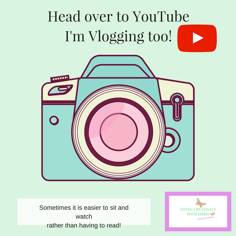 Living Creatively with Fibro | First Vlog head over to YouTube I'm vlogging too