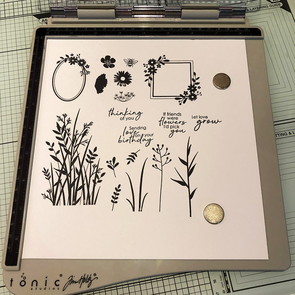 Living Creatively with FIbro | The Summer Meadow Stamped Images in the Stamping Platform.