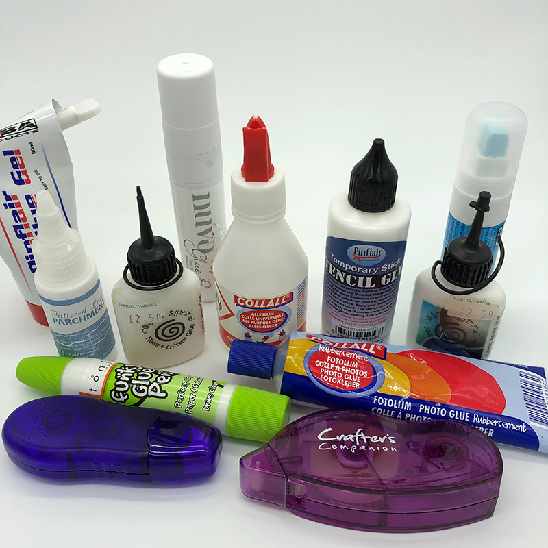The Best Adhesives for a Papercrafter a selection of mine.