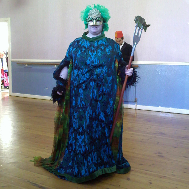 An Image of me dressed as the Sea Witch in Panto