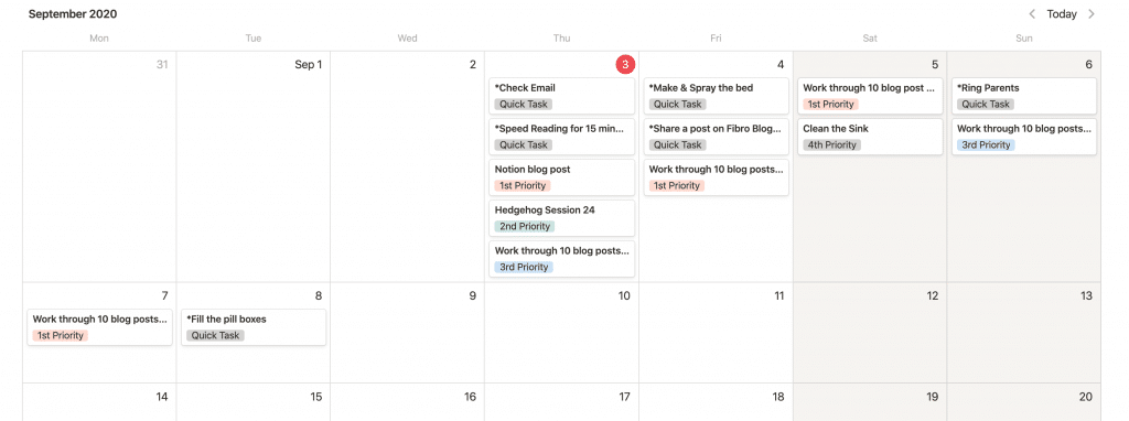The Notion Calendar View