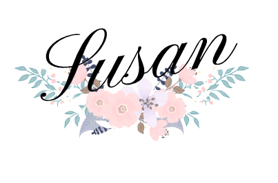 My name Susan with a winter floral swag