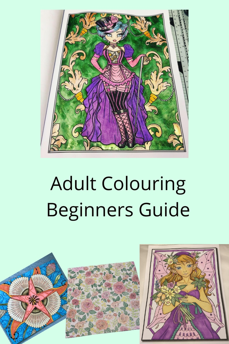 Pinterest version of the Adult Colouring Beginners Guide Title Image