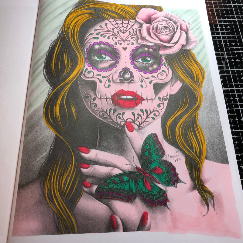 Halloween Alcohol Marker Adult Colouring